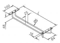Chrom Design - Gläserhalter  400 mm