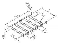 Chrom Design Gläserhalter 5-fach - 350 mm